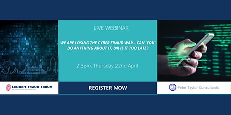 We're losing the Cyber Fraud war–can YOU do anything about it? tickets