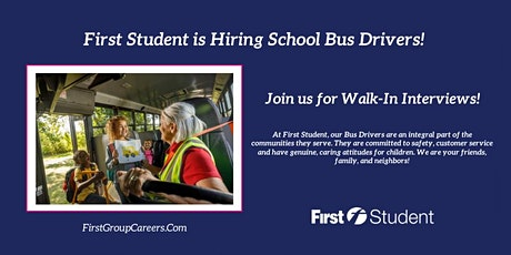 First Student Maywood is Hosting On-Site Job Fairs! tickets