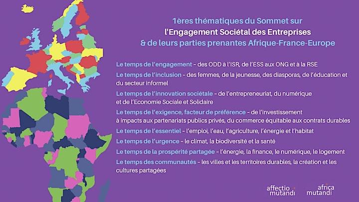 Image pour Sommet pour l'engagement sociétal des entreprises Afrique-France-Europe
