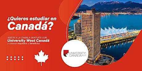 LIVE: Estudia con University West Canadá ✈ entradas