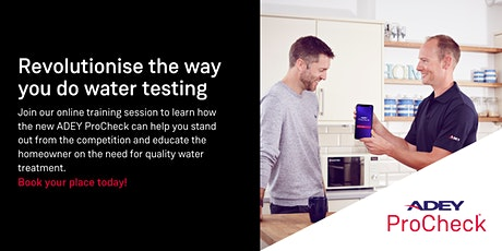 ADEY ProCheck: How onsite water testing can improve your business tickets