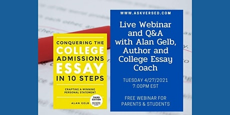 Conquering the College Essay - Alan Gelb, Author & Essay Coach tickets