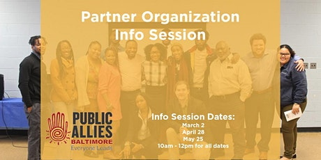 Public Allies Baltimore Partner Info Session tickets