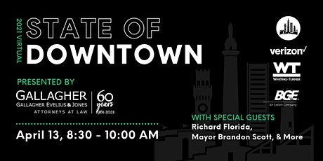 State of Downtown Baltimore Virtual Event tickets