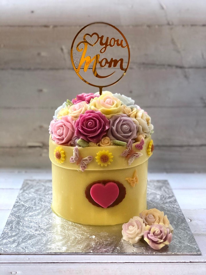 Pot of Roses & Pull-Out Money/Message Agar Agar image