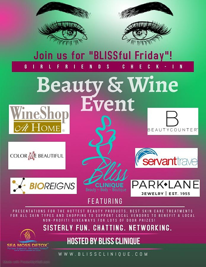 """BLISSFUL Friday... Girlfriends """"Beauty & Wine """" Event! image"""