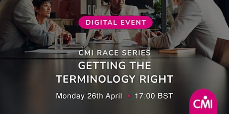 CMI Race: Getting the Terminology Right tickets