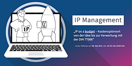 Webinar: IP-Management nach DIN 77006 tickets