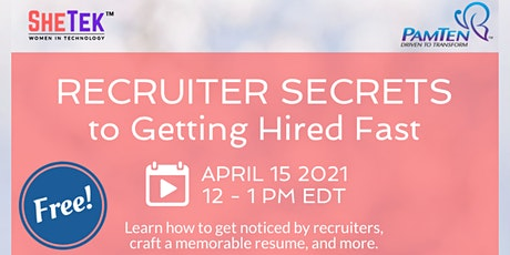 Recruiter Secrets to Getting Hired Fast tickets