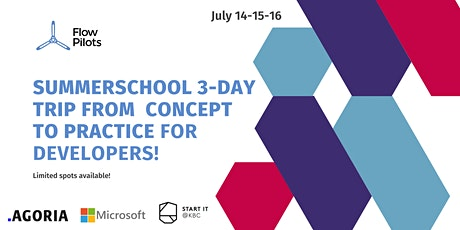 Summerschool, from concept to practice, a must-do for young developers! tickets