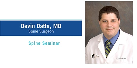 Spine Seminar with Dr. Datta tickets