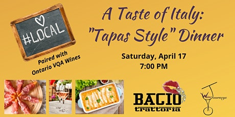 "A TASTE OF ITALY: ""TAPAS STYLE"" DINNER tickets"