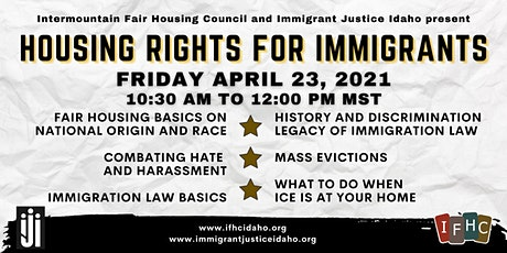 Housing Rights for Immigrants tickets