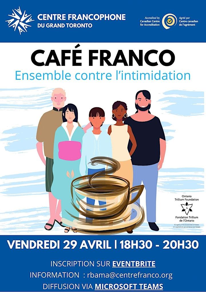 Café franco: Ensemble contre l'intimidation.Atelier pour jeunes et familles image