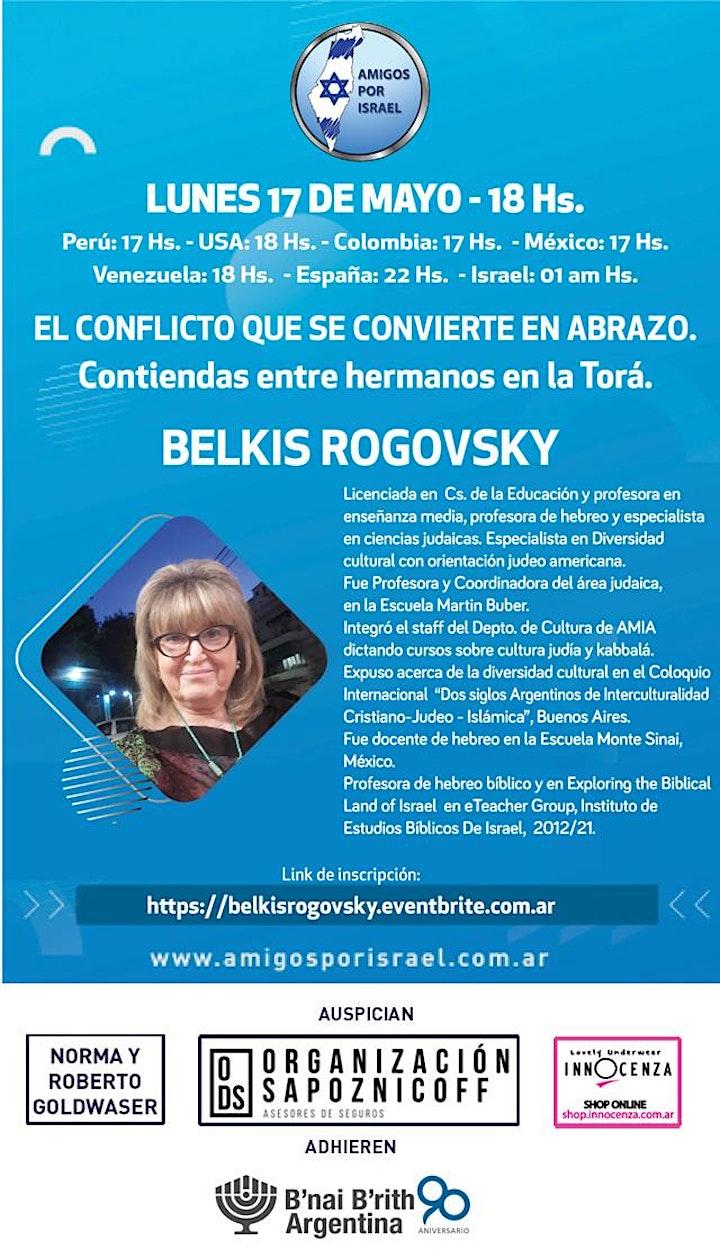 Imagen de EL CONFLICTO QUE SE CONVIERTE EN ABRAZO con BELKIS ROGOVSKY