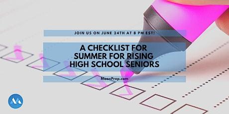 Webinar: A Checklist for Summer for Rising Seniors Tickets