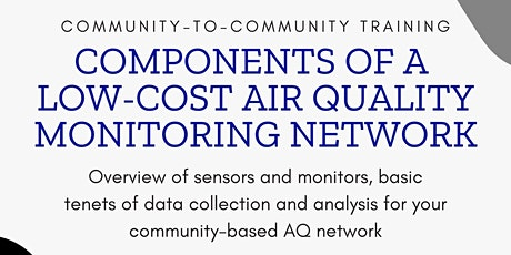 Components of a Community-Based Air Quality Monitoring Network tickets