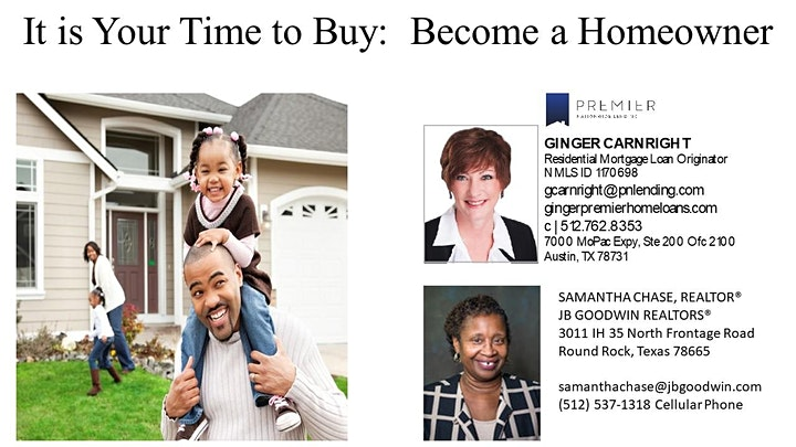 Online: It's Your Time to Buy - First Time Homebuyer Info Session image