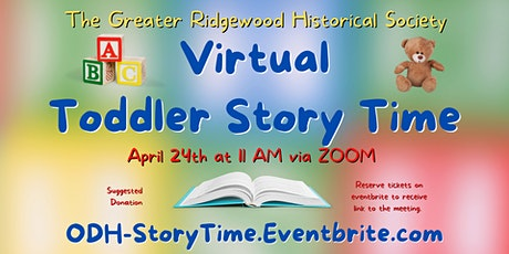 Virtual Toddler Storytime tickets