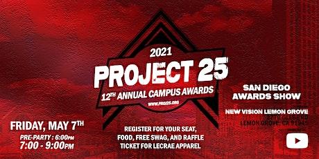 Project 25: Campus Awards - San Diego boletos