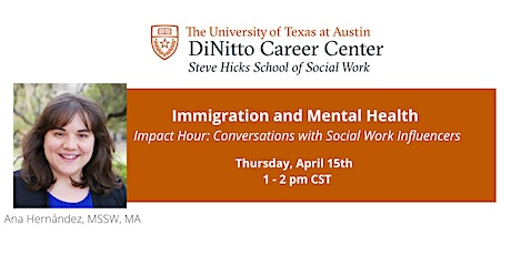 Impact Hour: Immigration and Mental Health tickets