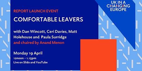 Report launch - Comfortable Leavers tickets