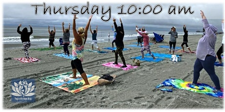 BEACH YOGA, THURS., April 22nd  at 10:00 am w/ Social Distancing tickets