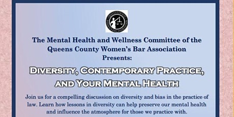 DIVERSITY, CONTEMPORARY PRACTICE AND YOUR MENTAL HEALTH tickets