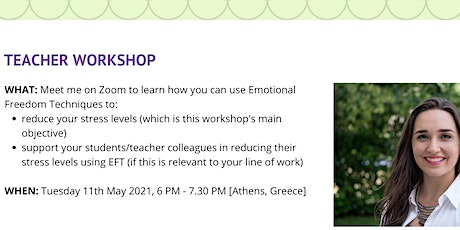 Teacher Workshop: Emotional Freedom Techniques for Stress Relief tickets