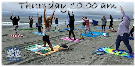 BEACH YOGA, THURS., April 29th  at 9:00 am w/ Social Distancing tickets