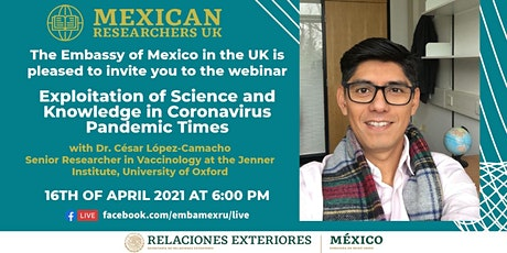 Exploitation of  Science and Knowledge in Coronavirus Pandemic Times tickets