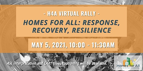 Homes for All Virtual Rally: Response, Recovery, Resilience tickets