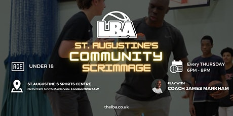 U18 St Augustine's Community Scrimmages - Weekly Basketball tickets