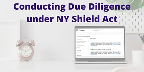 Conducting Due Diligence under NY Shield Act tickets