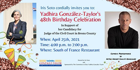 Yadhira (Yadhy) González-Taylor's 48th Birthday Celebration tickets