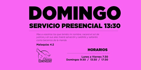 DOMINGO 18 ABRIL / 13:30 entradas