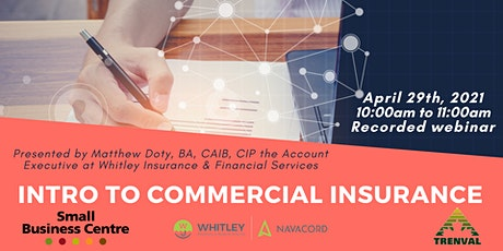 Intro to Commercial Insurance tickets