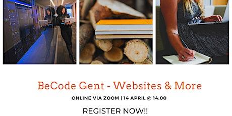 BeCode Gent - Websites & More tickets