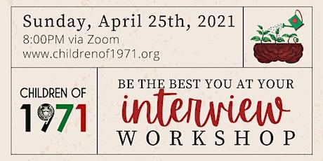 Children of 1971: Interview Workshop tickets