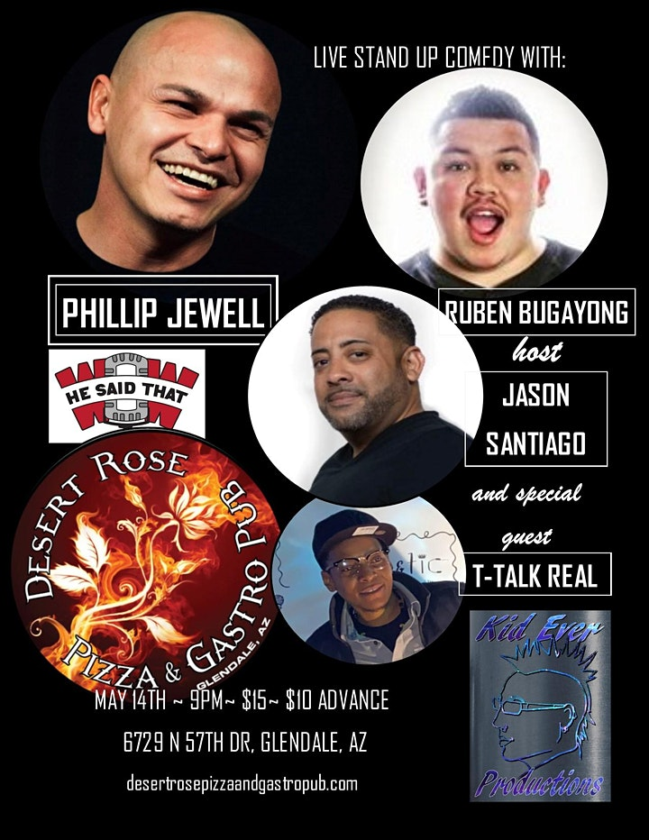 Comedy Night with Phillip Jewell, Ruben Bugayong-Desert Rose-Glendale AZ image