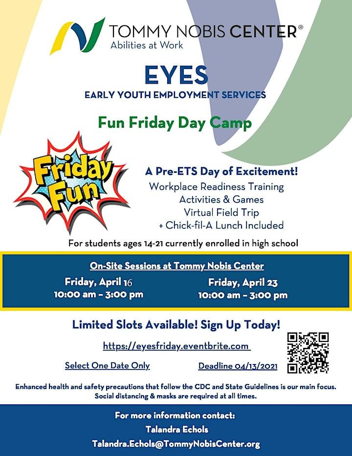 EYES: Fun Friday Day Camp image