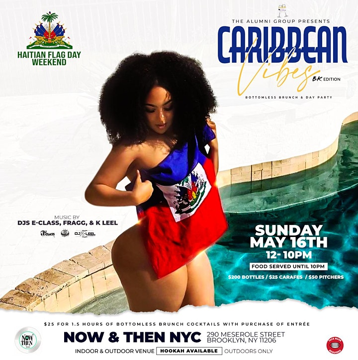 Caribbean Vibes Bottomless Brunch & Day Party - BK Haitian Flag Day Edition image