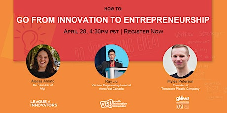 How To Go From Innovation to Entrepreneurship tickets