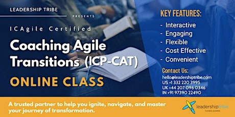 Coaching Agile Transitions (ICP-CAT) | Part Time - 100821 - UK tickets