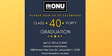ONU Class 40 Graduation (Virtual AND Live!) tickets