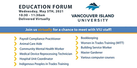 WorkBC Education Forum - feat. Vancouver Island University tickets