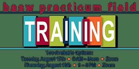 2021 BASW Practicum Field Training tickets