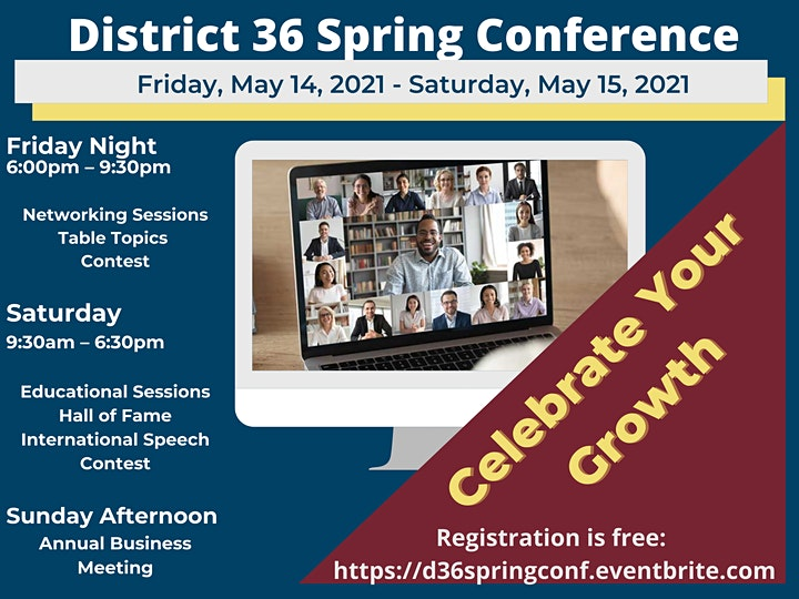 District 36 Annual Spring Conference, May 14-15, 2021 image