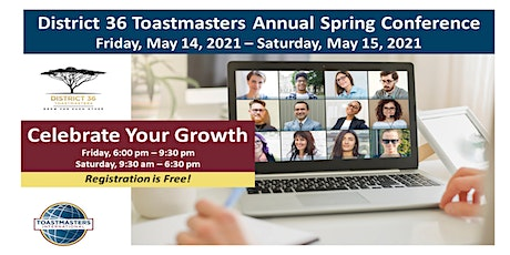 District 36 Annual Spring Conference, May 14-15, 2021 tickets