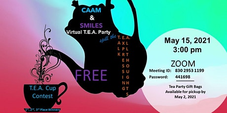 It's A Virtual Tea Party with CAAM & SMILES biglietti